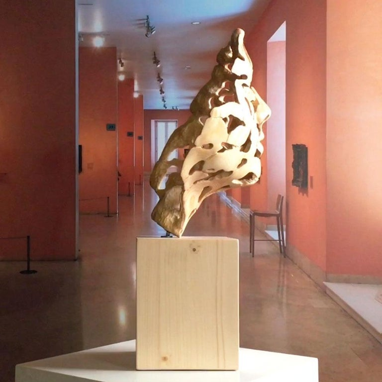 Essence of Youth Wood – Miguel Guía Neo-Expressionist Sweden pine tree Sculpture For Sale 11