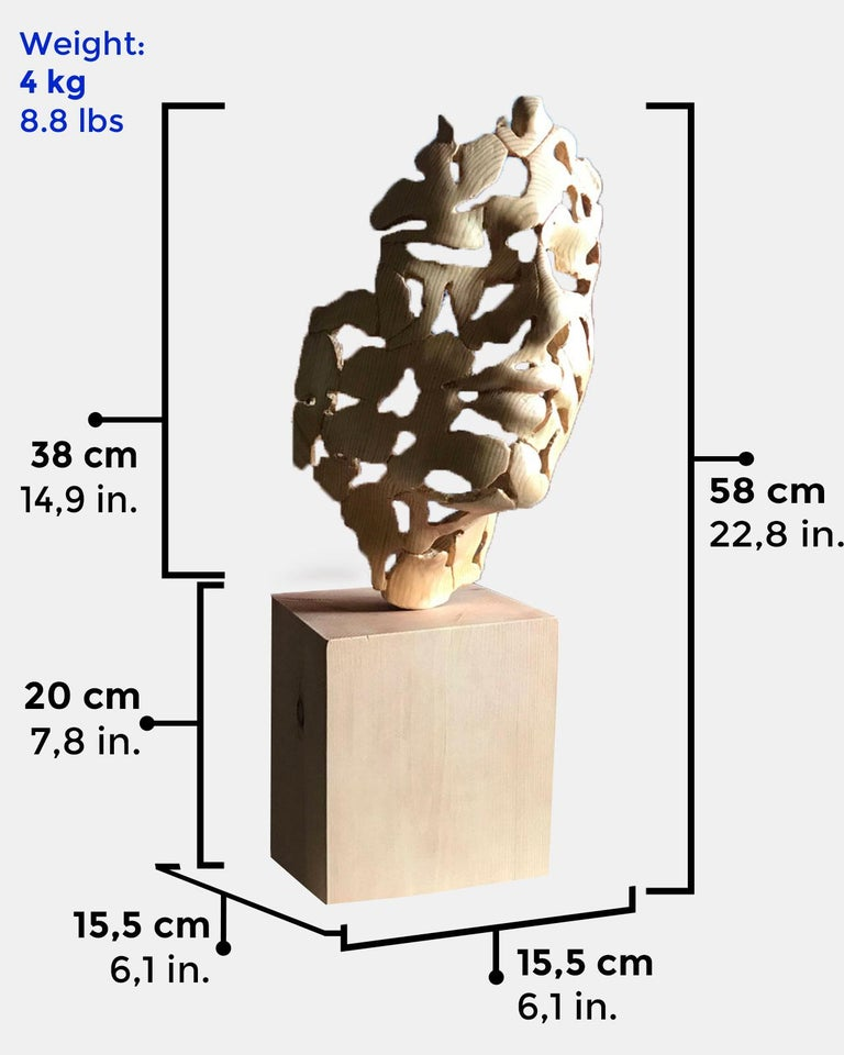 Essence of Youth Wood – Miguel Guía Neo-Expressionist Sweden pine tree Sculpture For Sale 3