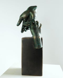 Father´s Hand - Miguel Guía Realist Bronze layer Sculpture