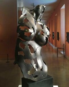 Female Essence Bronze - Miguel Guía Expressionist Bronze layer Sculpture