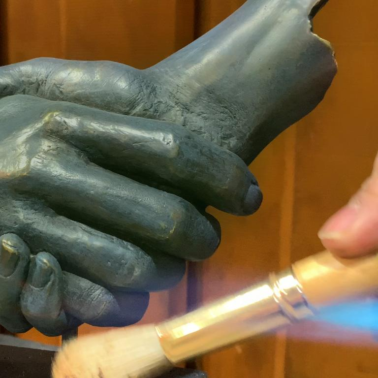 Friendship - Miguel Guía Realism Bronze layer Sculpture 13