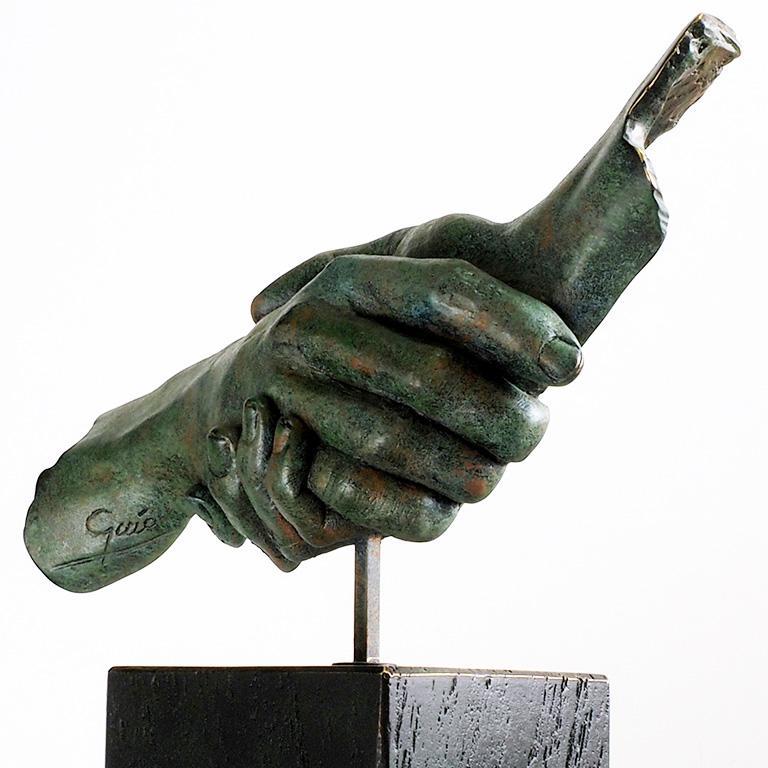 Friendship - Miguel Guía Realism Bronze layer Sculpture 6