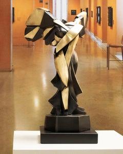 Harmony of Samothrace Big - Miguel Guía Cubist Bronze layer Sculpture