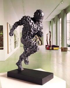 NFL Abstraction - Miguel Guía Constructivist Cast bronze Sculpture