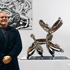 Smug Nickel Dog 59 - Miguel Guía, Pop Art Aluminum Sculpture