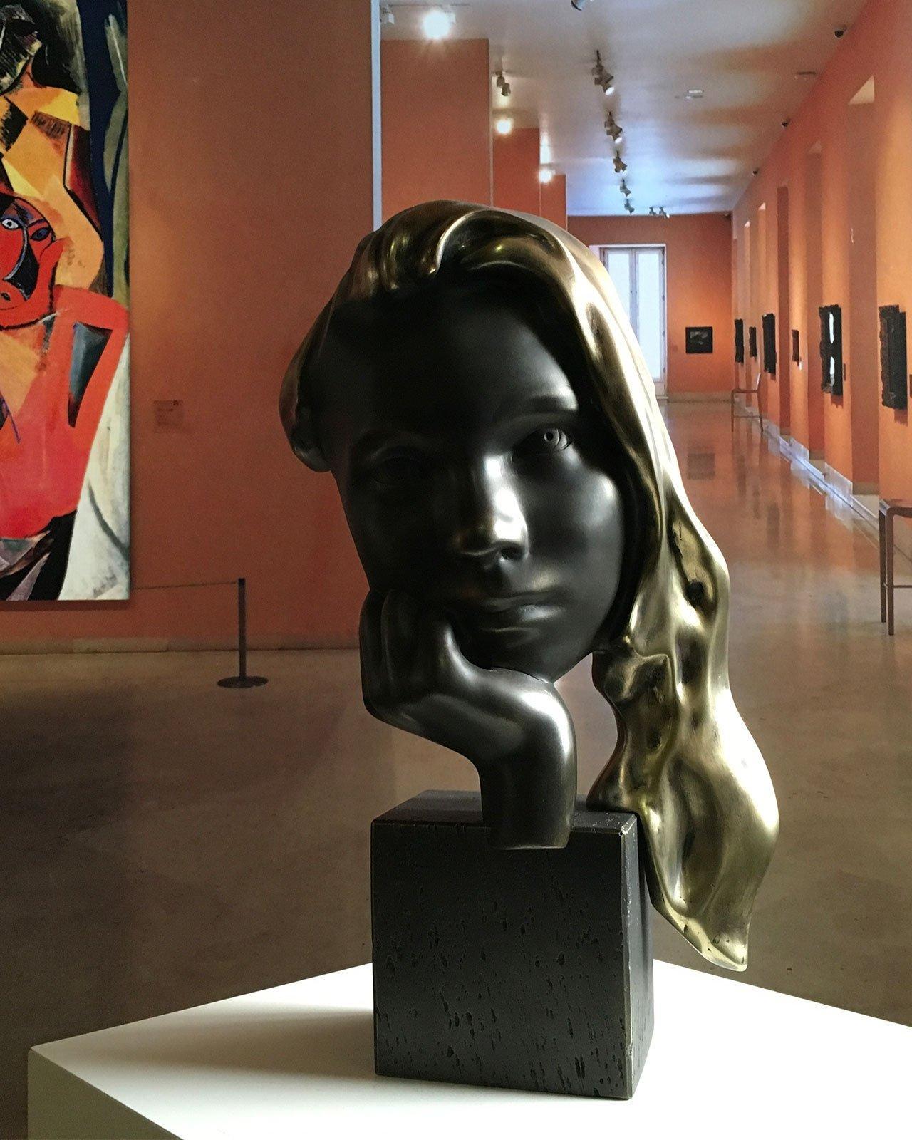 Sweet Innocence Bronze - Miguel Guía Realism Bronze layer Sculpture