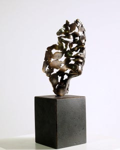 The Essence of Youth - Miguel Guía Expressionist Bronze layer Sculpture