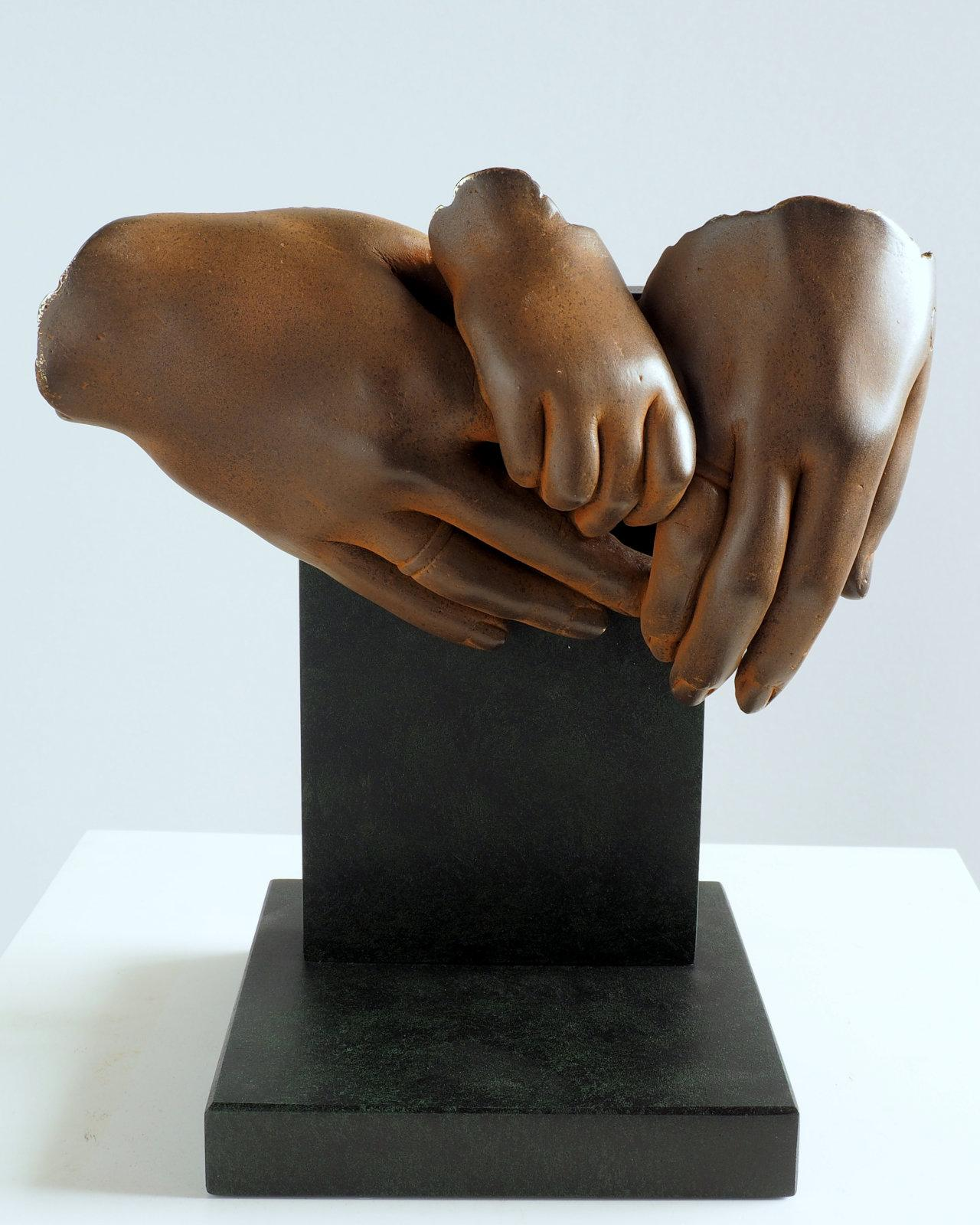 The Family - Miguel Guía Realist Bronze layer Sculpture