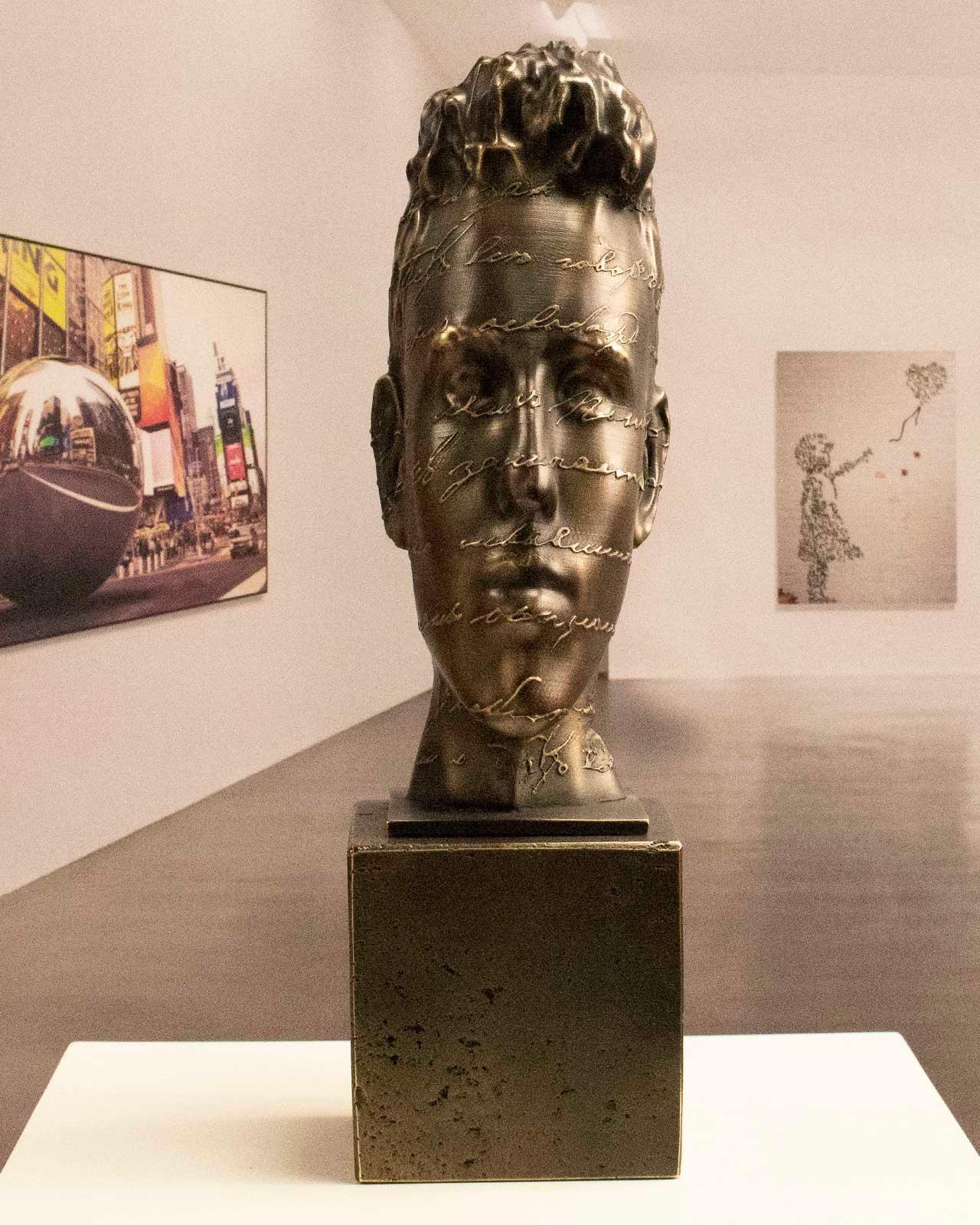 We are Literature bronce - Miguel Guía Surrealist Bronze layer Sculpture