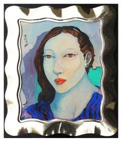 Miguel Martinez Original Oil Painting On Canvas Female Portrait Signed Artwork