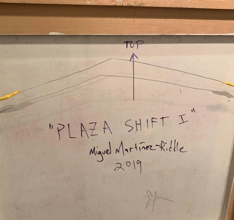 Oil on Panel -- Plaza Shift I For Sale 2