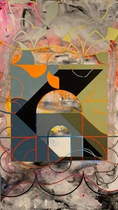 Oil on Panel -- Plaza Shift I
