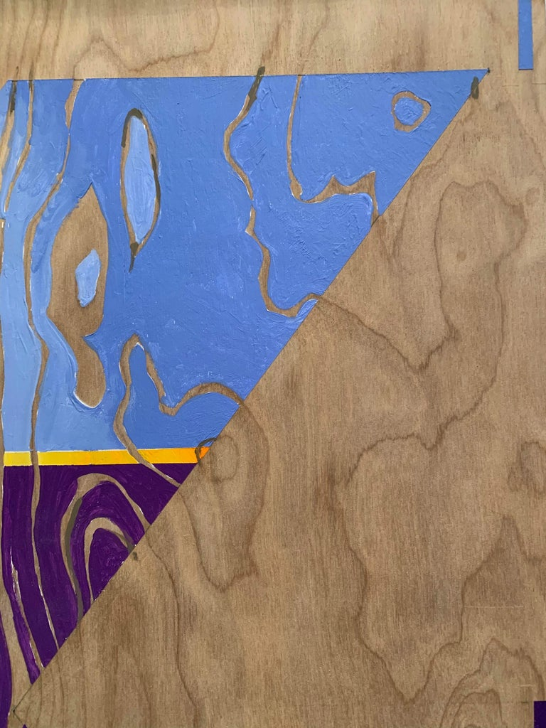 Paint on Board -- Sharp Curve (Left) For Sale 2