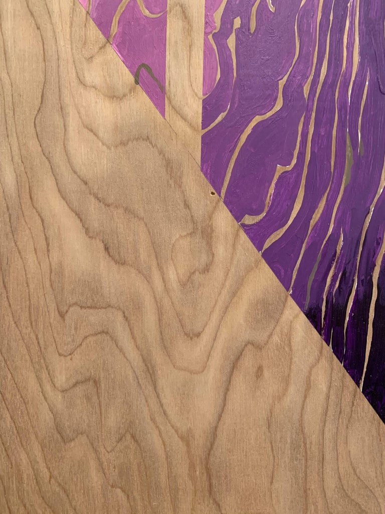 Paint on Board -- Sharp Curve (Left) For Sale 3