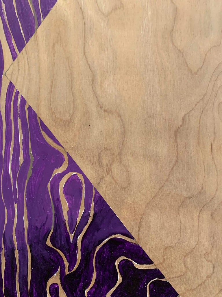 Paint on Board -- Sharp Curve (Left) For Sale 4