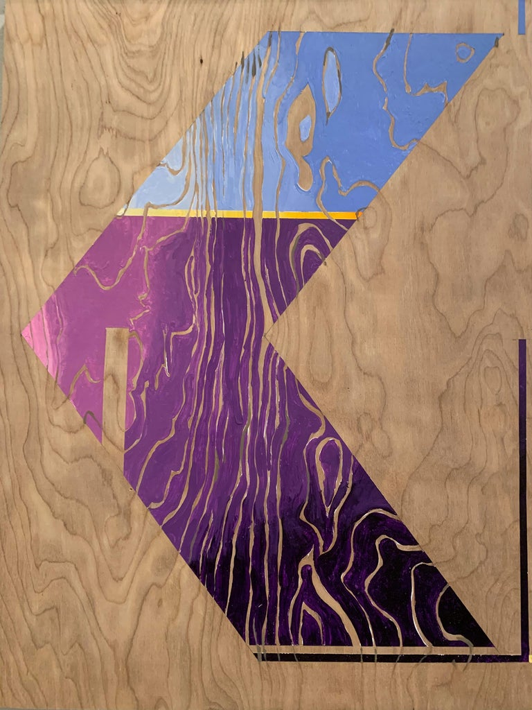 Paint on Board -- Sharp Curve (Left) - Art by Miguel Martinez- Riddle