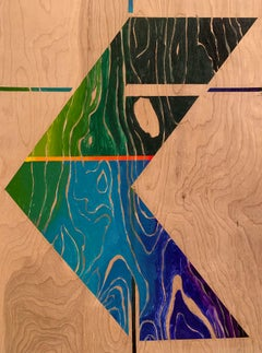 Paint on Board -- Sharp Curve (Right)