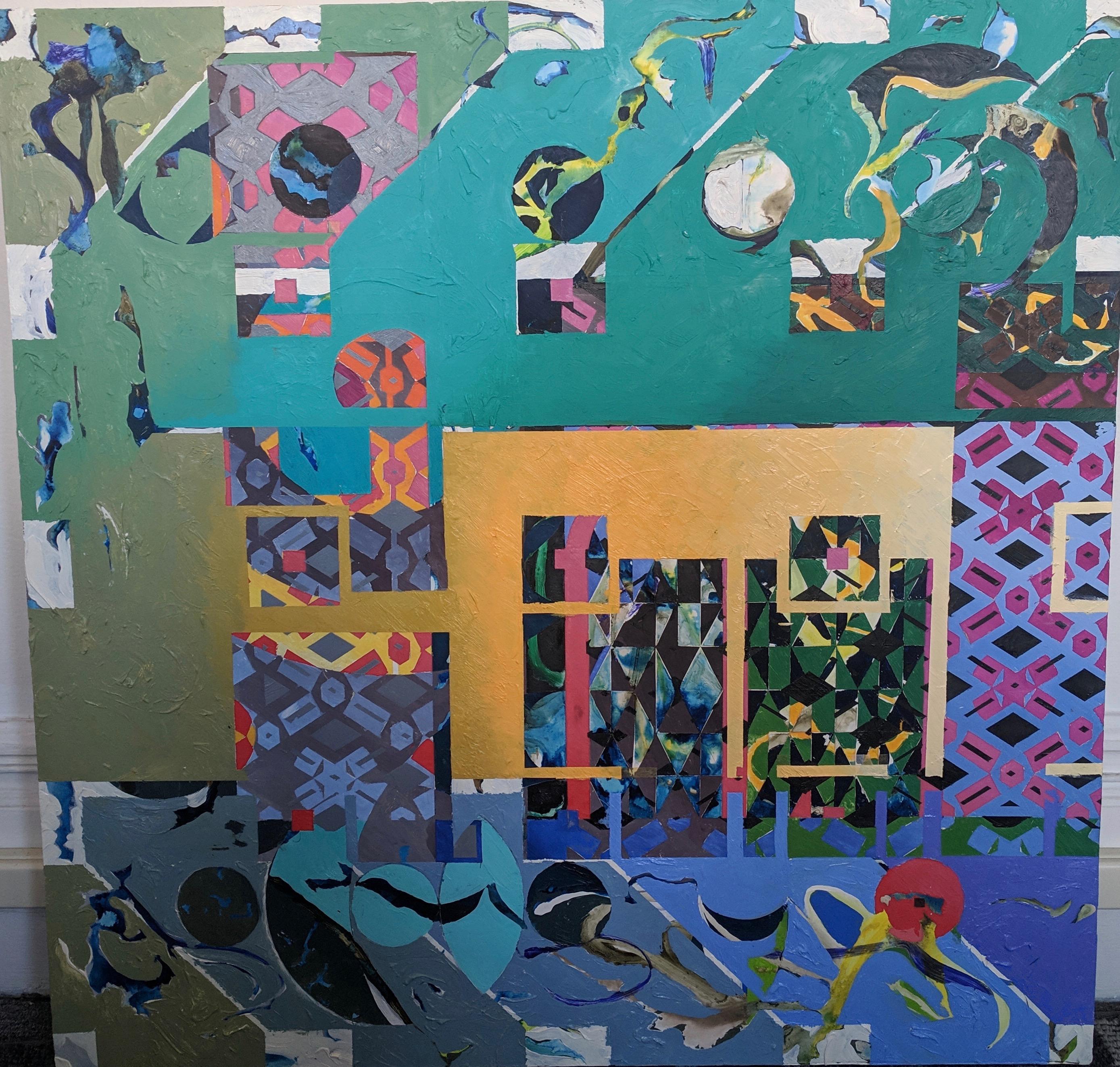Abstract Painting  -- Plaza De Las Celebraciones