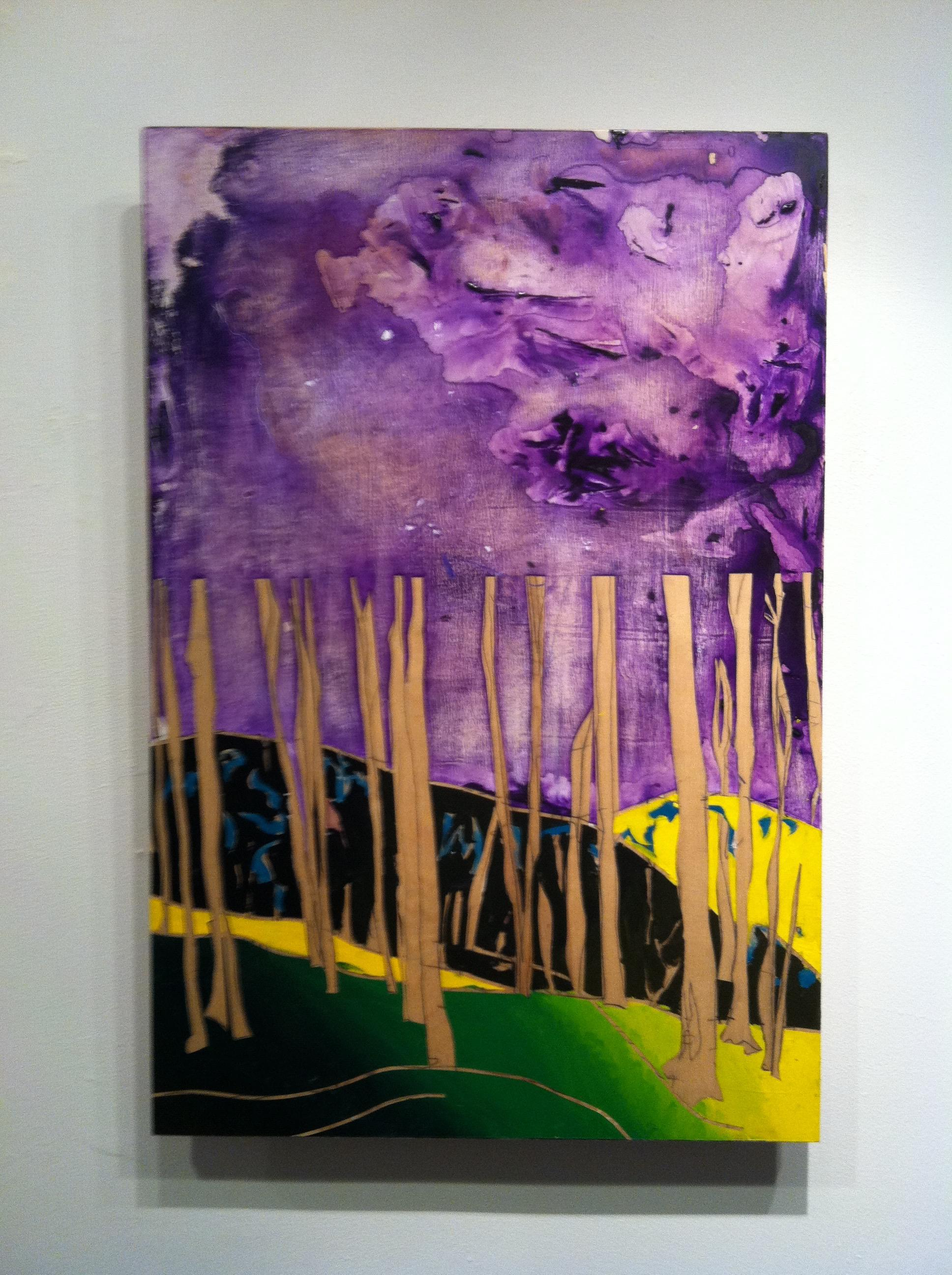 Contemporary Acrylic Painting on Panel -- Plaza Forest 2