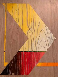 Pop Art Painting -- Sharp Curve (Middle)