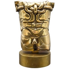 Miguel Ortiz Berrocal Goliath Puzzle Brass Sculpture