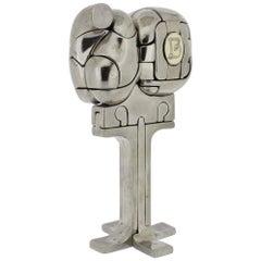 Miguel Ortiz Berrocal, Mini Cristina Nickel Plated Bronze Puzzle Sculpture, 1980