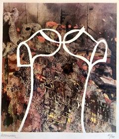 1960s Pop Art Miguel Berrocal Embossed Relief Print Aquatint Etching Torso