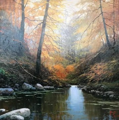 Contemporary Landscape Painting 'Enchanted Forest' by Miguel Peidro