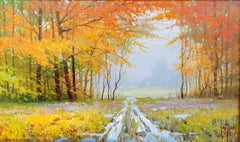 Contemporary Landscape Painting 'Springtime Valley' by Miguel Peidro