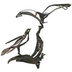 Miguel Van Esso Brutalist Iron Bird Sculpture