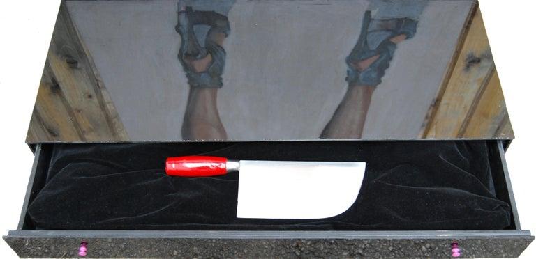 Useful Object Cut - Contemporary, Legs, Woman, High Heels, Vertical, Pop Art For Sale 1