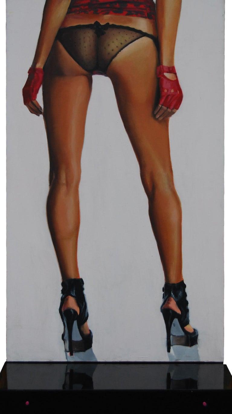 Useful Object Cut - Contemporary, Legs, Woman, High Heels, Vertical, Pop Art - Mixed Media Art by Mihai Florea