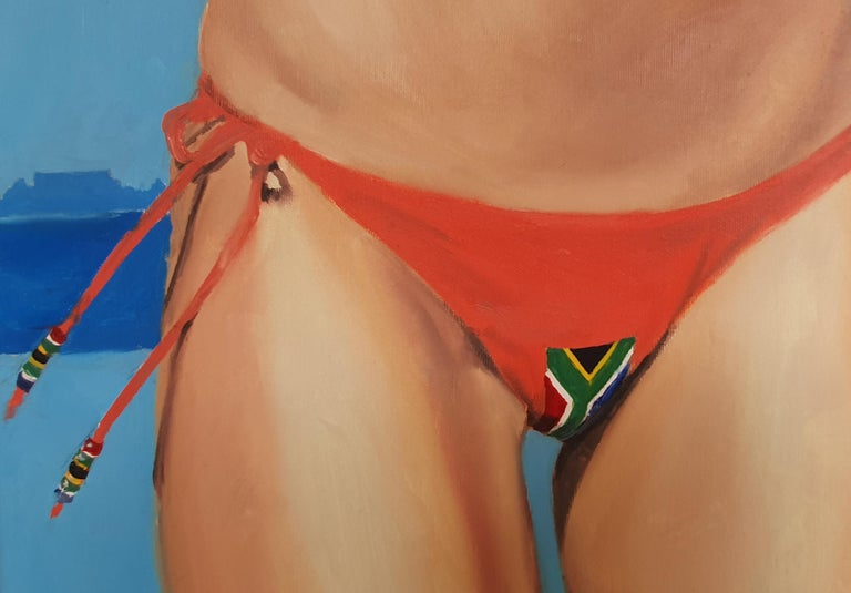 South Africa - 21st Century, Figurative Painting, Flag, Contemporary Art, Safari For Sale 1