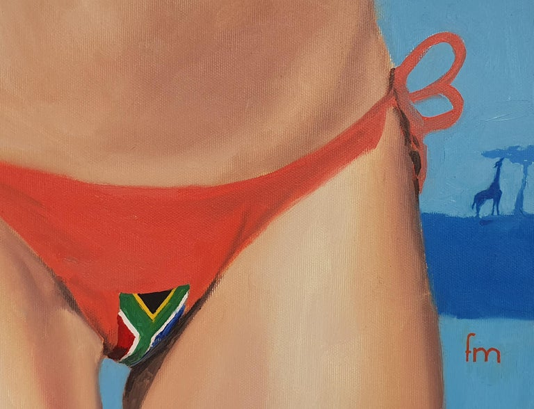 South Africa - 21st Century, Figurative Painting, Flag, Contemporary Art, Safari For Sale 2