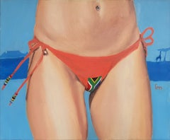 South Africa - 21st Century, Figurative Painting, Flag, Contemporary Art, Safari