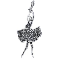 Mihail Chemiakin Diamond 18 Karat White Gold Pendant