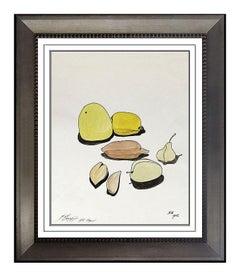 Mihail Chemiakin Original Gouache Painting Indian Ink Signed Artwork Still Life