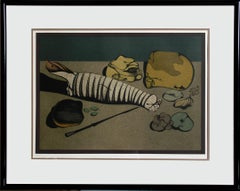 Nature-Morte Lithograph by Mihail Chemiakin