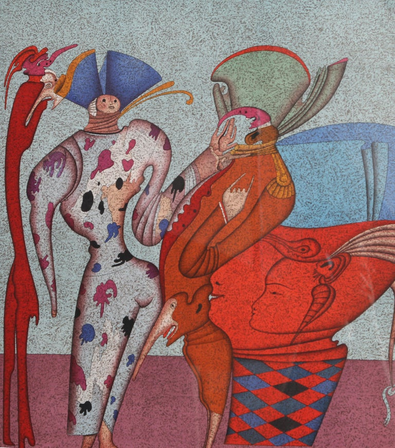 Russian Surrealist Serigraph by Mihail Chemiakin For Sale 1