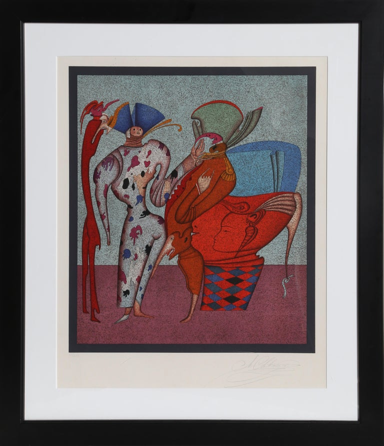 Artist: Mihail Chemiakin, Russian (1943 - ) Title: Untitled  Medium: Serigraph on Japon, signed and numbered in pencil Edition: 13/225 Image Size: 20 x 17 inches Size: 30 in. x 21 in. (76.2 cm x 53.34 cm) Frame:  31 x 26.75 inches