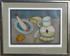 Still Life with Fish, Bread and Knife