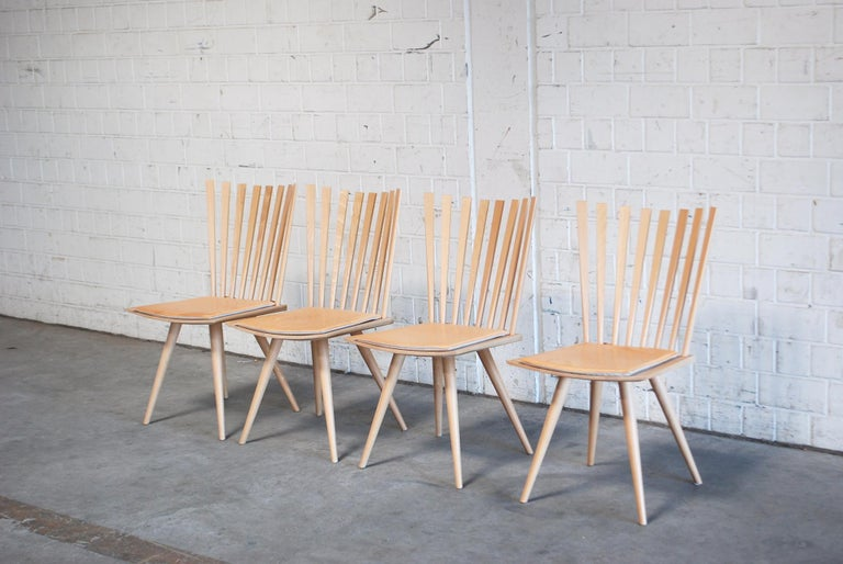 Dining chairs in beech designed Foersom & Hiort-Lorenzen and produced Fredericia Stolefabrik.