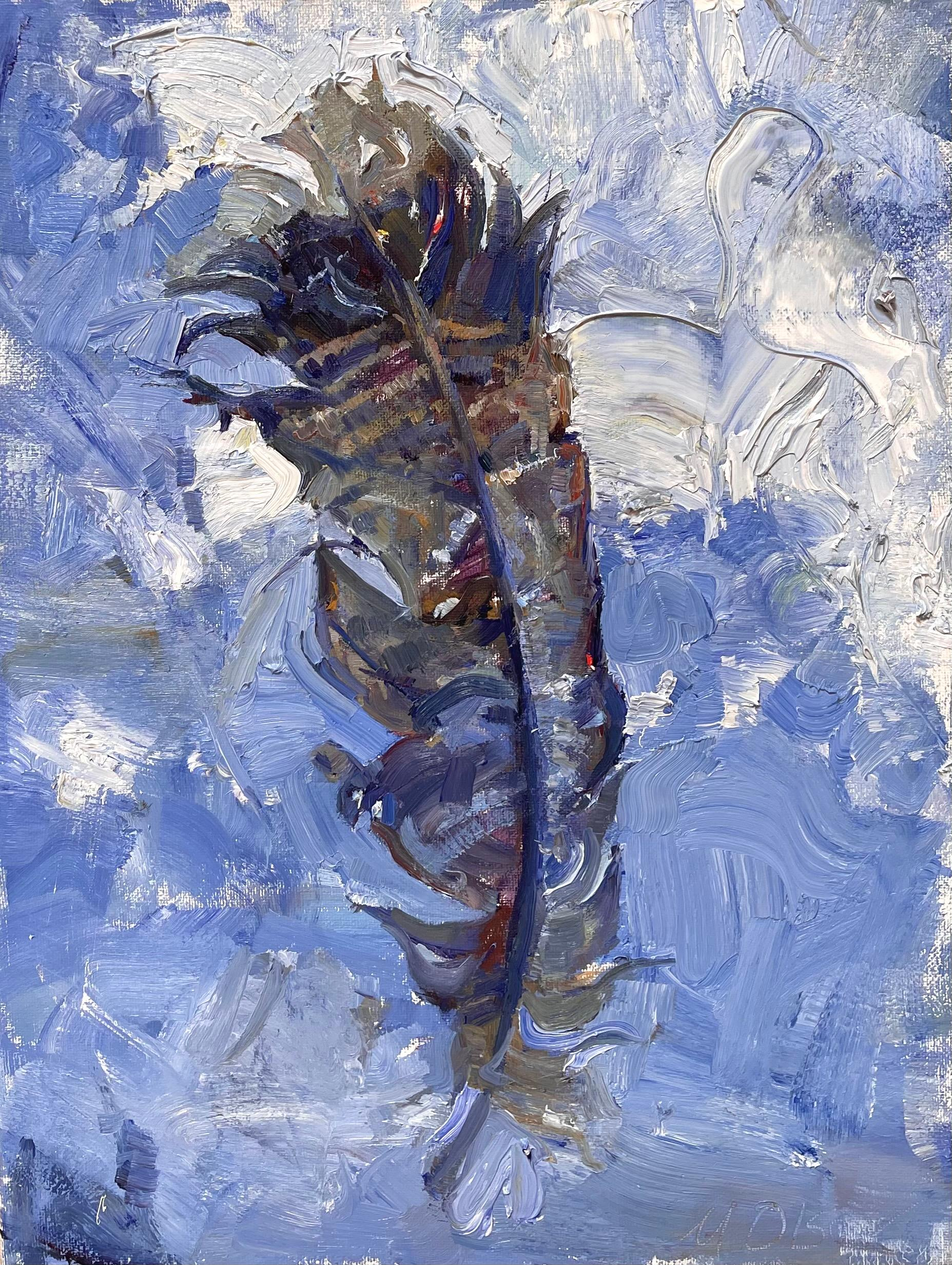 """""""Feather,"""" Oil Painting"""