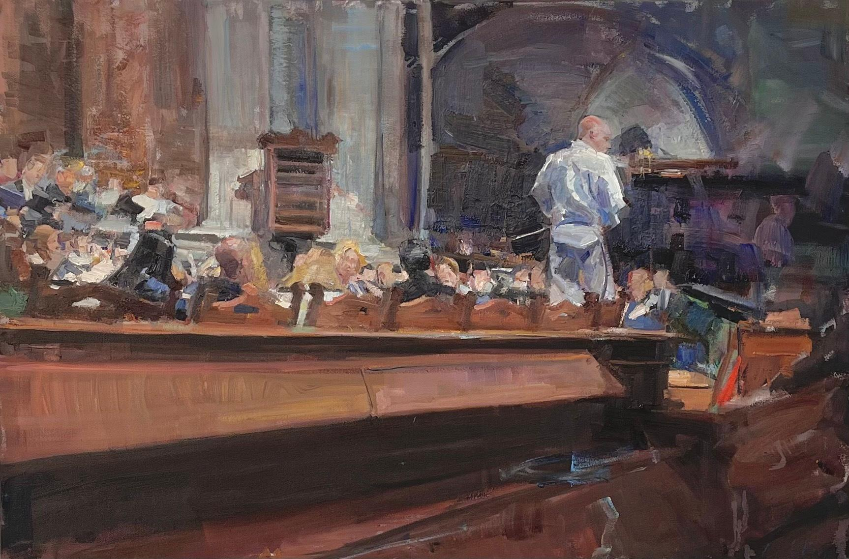 """""""Rehearsal"""" Oil Painting"""