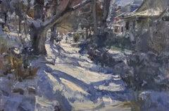 """Washington Street"" Oil Painting"