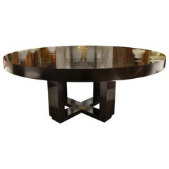 Mike Bell Curly Maple Contemporary Table with Rippled Lacquer