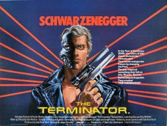 Original Vintage Movie Poster Arnold Schwarzenegger The Terminator Sci-Fi Film