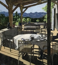 Breakfast Table - landscape view table shelter bright light acrylic