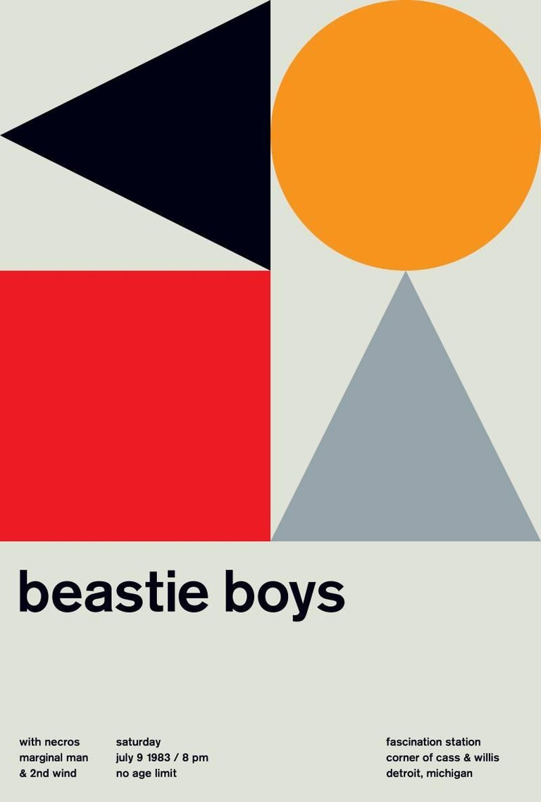 Mike Joyce Abstract Print - BEASTIE BOYS, Limited Edition Design Print