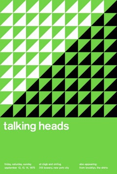 TALKING HEADS, Limited Edition Design Print